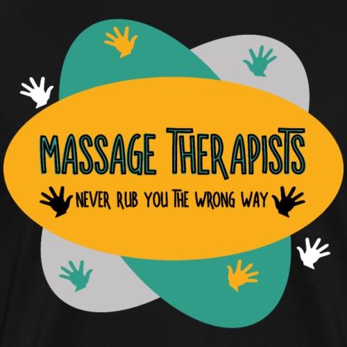 Massage Therapists Hands Rub Ovals - Men's Premium T-Shirt