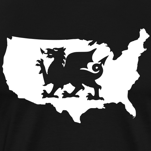 USA Welsh Dragon - Men's Premium T-Shirt