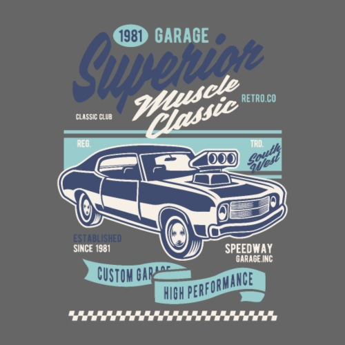 RETRO CAR 20 5 - Männer Premium T-Shirt