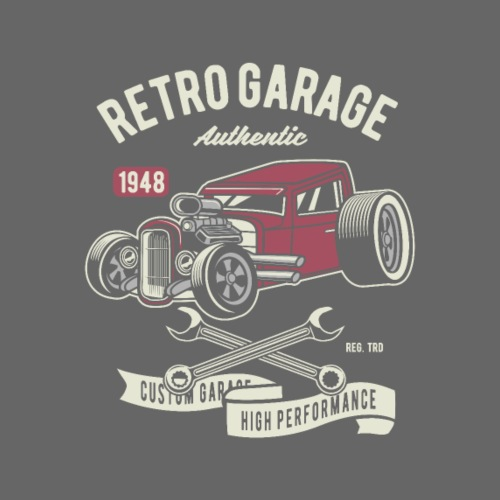 RETRO CAR 20 7 - Männer Premium T-Shirt