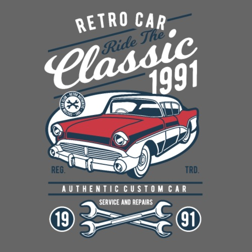 RETRO CAR 20 6 - Männer Premium T-Shirt