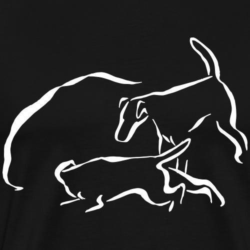 Foxit - valkoinen - Miesten premium t-paita