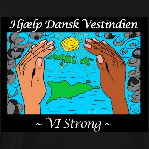 Hjælp Dansk Vestindien (2) - Herre premium T-shirt