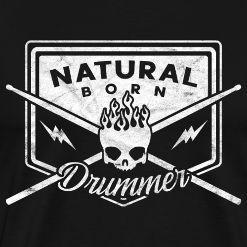 Natural Born Drummer, Schlagzeuger - Männer Premium T-Shirt