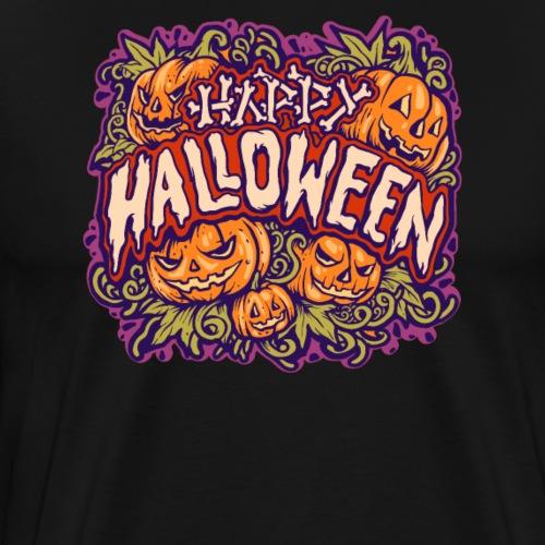 Halloween Grusel Horror Knochen und Kürbis - Männer Premium T-Shirt