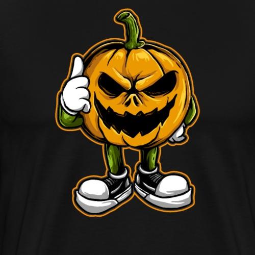 Halloween Grusel Horror Kürbis lustig - Männer Premium T-Shirt