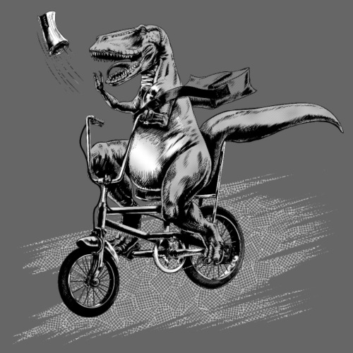 T Rex Paperboy Old school - Men's Premium T-Shirt