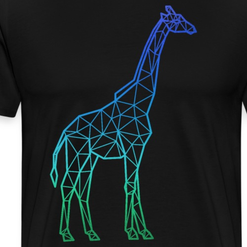 Poly giraffe - Men's Premium T-Shirt