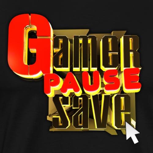GAMER, PAUSE, SAVE. - Men's Premium T-Shirt
