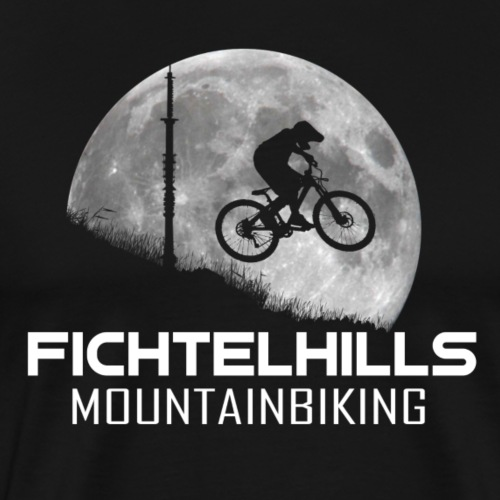 fichtelhills mountainbiking night ride fullmoon - Männer Premium T-Shirt