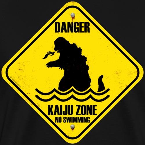 Peligro por kaiju (monstruos gigantes) - Camiseta premium hombre