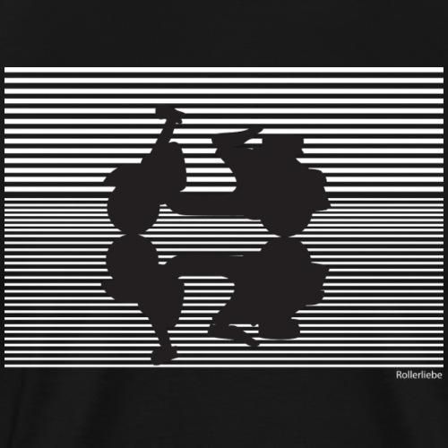 Roller Spiegelbild - Männer Premium T-Shirt