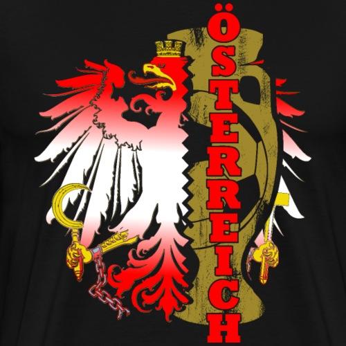 Öesterreich Heimat Fussball Fan Nationalteam - Männer Premium T-Shirt