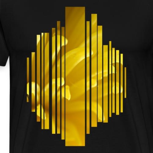 Yellow flower - Premium T-skjorte for menn