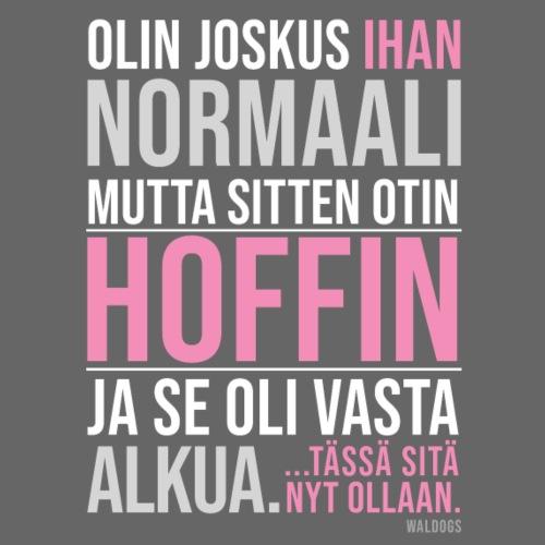 Vasta Alkua Hoffi - Miesten premium t-paita