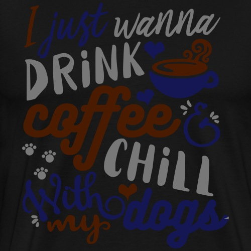 Coffee Dogs - Men's Premium T-Shirt