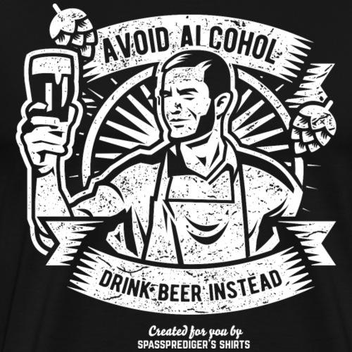 Bier T Shirt Beer Instead | witziger Bier Spruch - Männer Premium T-Shirt