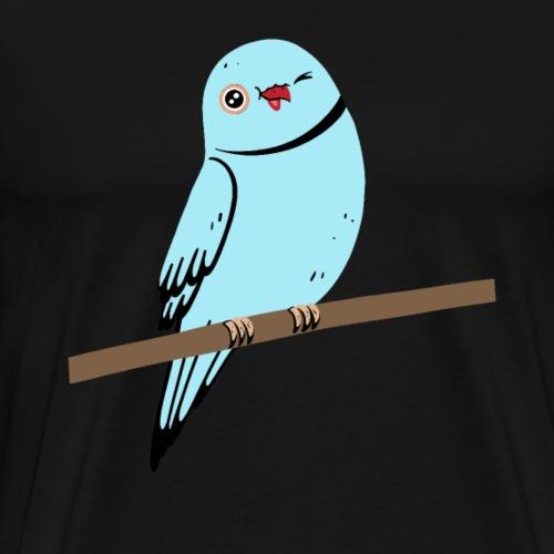 Blauer Vogel Papagei Illustration - Männer Premium T-Shirt