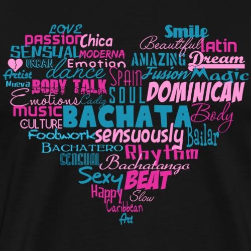 Bachata Heart - Bachata Dance Shirt - Männer Premium T-Shirt