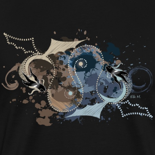 Yin und Yang - 2 Drachen - Männer Premium T-Shirt