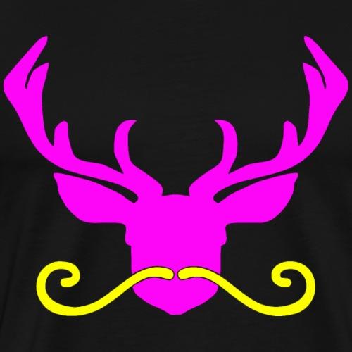 Oktoberfest Hirsch Bart pink Damen Mädchen - Männer Premium T-Shirt