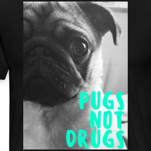 pugs not drugs photograph - Men's Premium T-Shirt