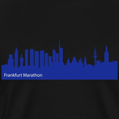 Frankfurt Marathon Skyline Design - Männer Premium T-Shirt