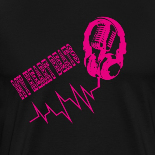 musicbeat_pink - Men's Premium T-Shirt