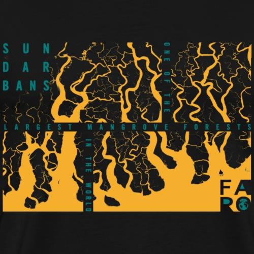 Sundarbans Rectangles - Männer Premium T-Shirt