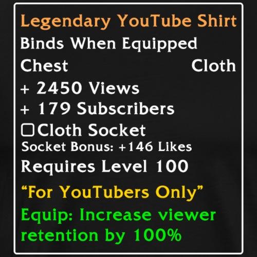 Legendarisk YouTube-skjorte - Premium T-skjorte for menn