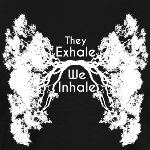 InhaleExhaleWhite - Men's Premium T-Shirt