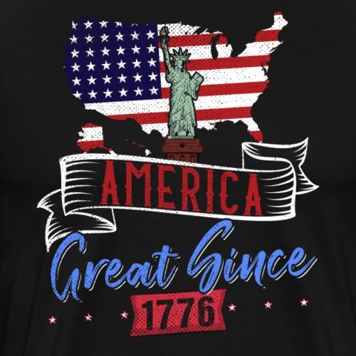 AMERICA GREAT SINCE 1776 - Männer Premium T-Shirt