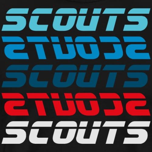 SCOUTS Retro Typo Blau Rot - Männer Premium T-Shirt