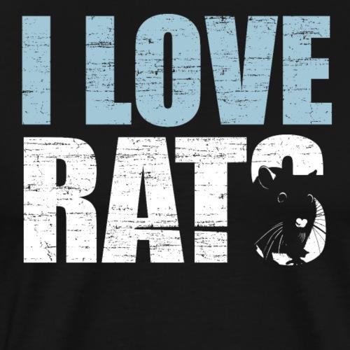 Ich liebe Ratten - Männer Premium T-Shirt
