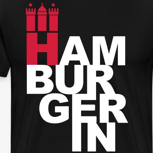 HAMBURGERIN 2c Hamburg Stadt Wappen - Männer Premium T-Shirt
