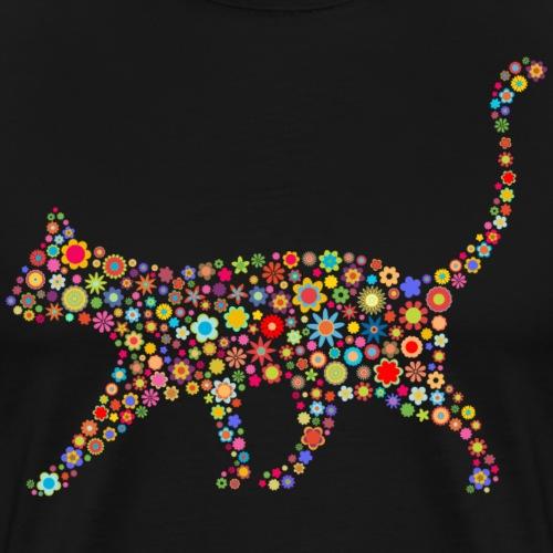 flower cat - Männer Premium T-Shirt
