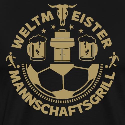 FUSSBALL MANNSCHAFTSGRILL v2G - Männer Premium T-Shirt