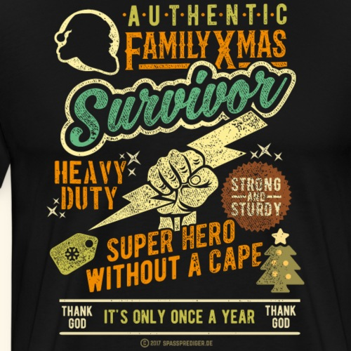 Family Xmas Survivor - Männer Premium T-Shirt
