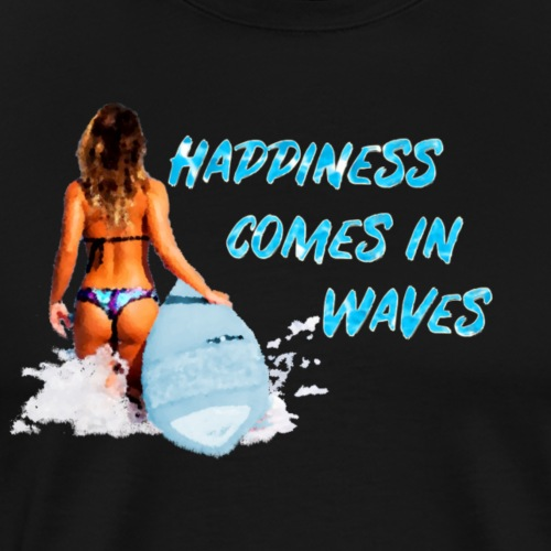 Happiness comes in waves - Men's Premium T-Shirt