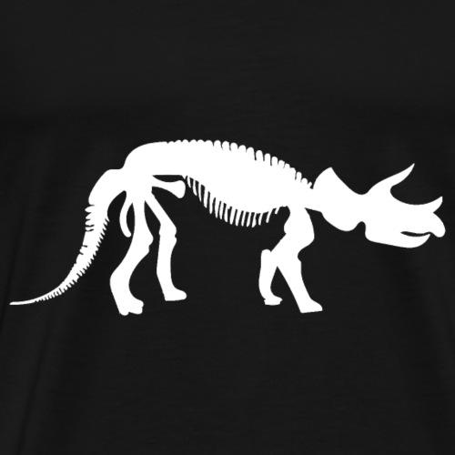 Triceratops Fossil Dinosaurier Geschenk - Männer Premium T-Shirt