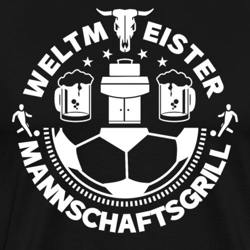 FUSSBALL MANNSCHAFTSGRILL v2SW - Männer Premium T-Shirt