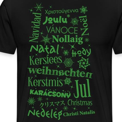 xmas Kerstmis Christmas Santa Noël Navidad - Men's Premium T-Shirt
