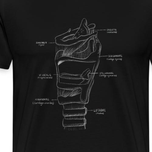Kreidezeichnung Larynx - Männer Premium T-Shirt