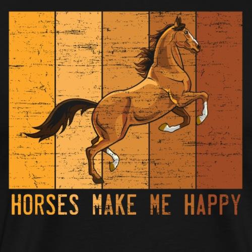 Pferde machen mich glücklich - Männer Premium T-Shirt