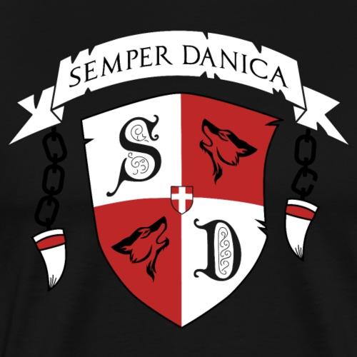 SD logo - sorte lænker - Herre premium T-shirt