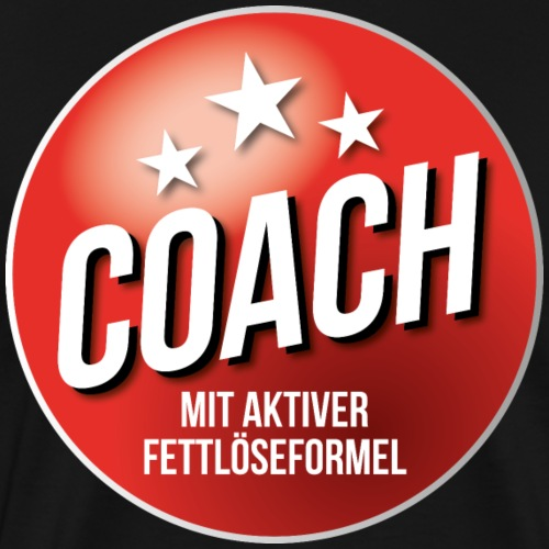 Fußball Coach Trainer Fett weg Soccer