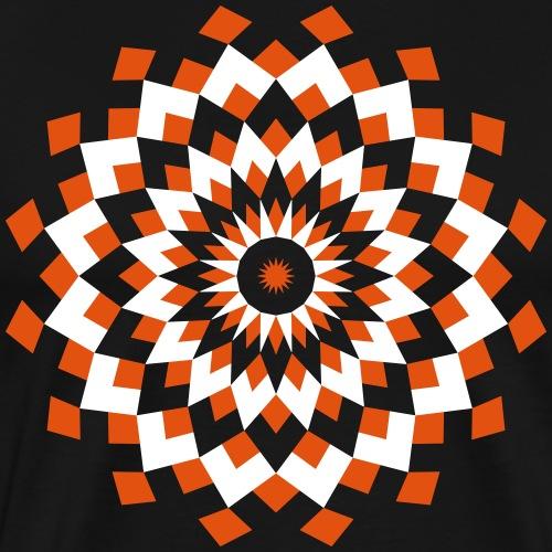 Mandala losanges orange et blanc - T-shirt Premium Homme
