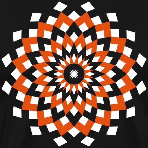 Mandala losanges blanc orange - T-shirt Premium Homme