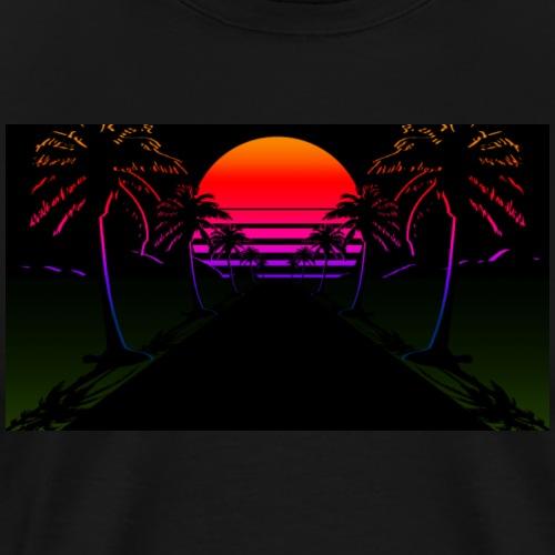 Aesthetic sunset - Mannen Premium T-shirt
