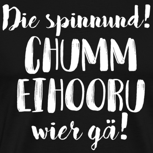 CHUMM EIHOORU, WIER GÄ! - Männer Premium T-Shirt